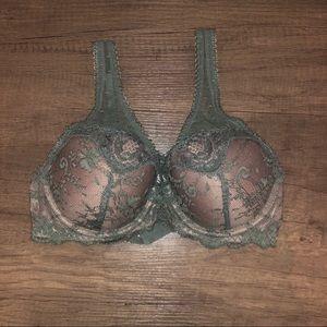 Victoria's Secret Green Demi Bra 32D NWT!